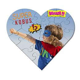 Personaliseerbare puzzel Superhart