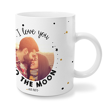 Personaliseerbare mokken - Love me to the moon - 0