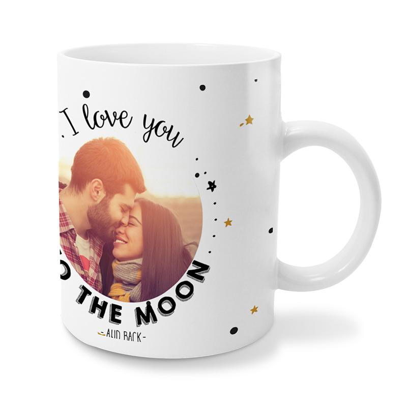 Gepersonaliseerde Fotomokken Love me to the moon