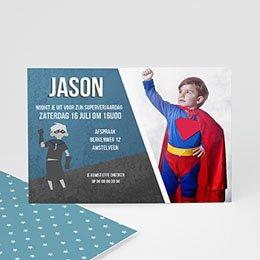 Uitnodiging Verjaardag kind Superjaardag