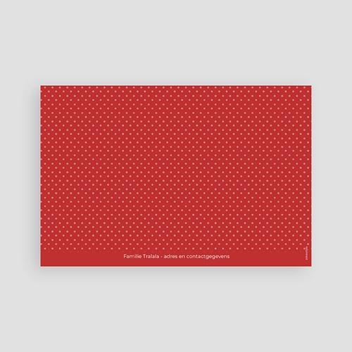 Uitnodiging communie meisje - Rood gespikkeld 45833 thumb