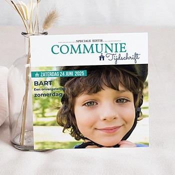 Uitnodiging communie jongen - Communion Magazine - 0