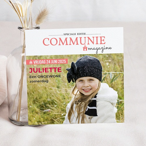 Uitnodiging communie meisje - Gazette Communion 46415 thumb