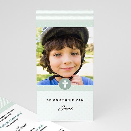 Uitnodiging communie jongen - Motifs bleus étoiles 46418 thumb