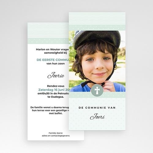 Uitnodiging communie jongen - Motifs bleus étoiles 46419 thumb