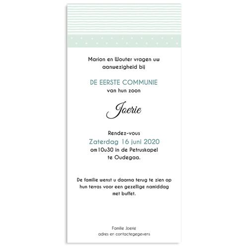 Uitnodiging communie jongen - Motifs bleus étoiles 46420 thumb