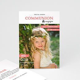 Bedankkaart communie meisje Magazine