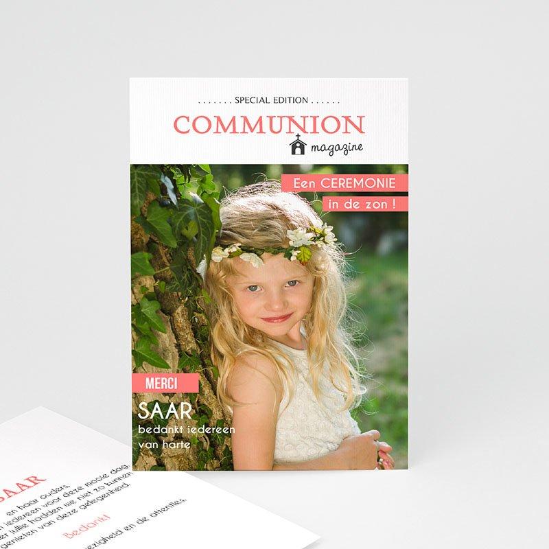 Bedankkaart communie meisje - Magazine 46427 thumb