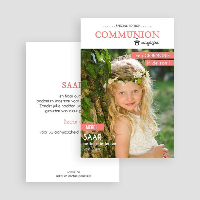 Bedankkaart communie meisje - Magazine 46429 thumb