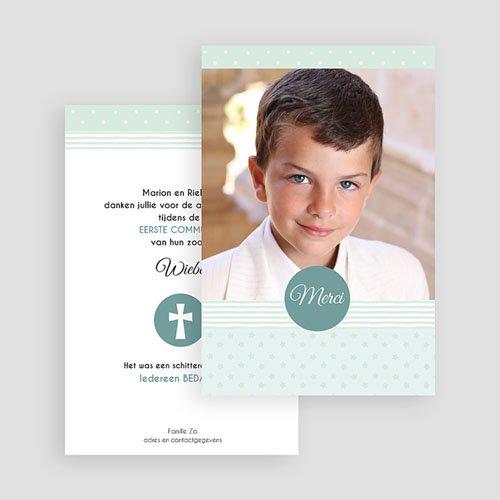 Bedankkaart communie jongen - Motif bleus 46435 thumb