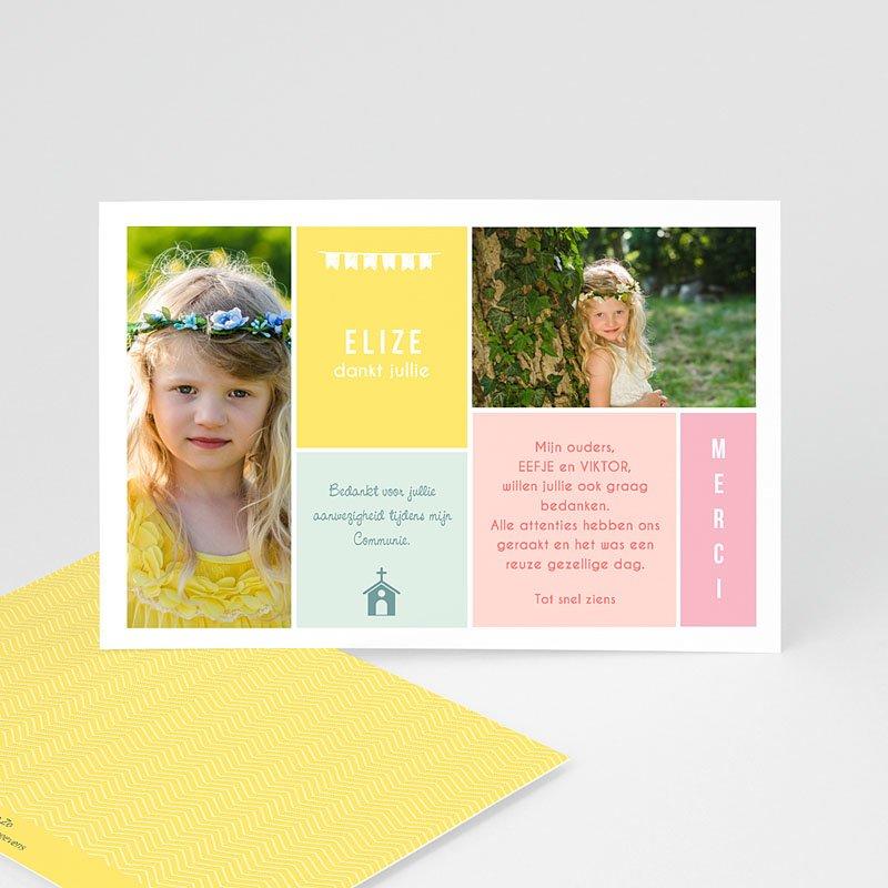 Bedankkaart communie meisje - Couleur 46436 thumb