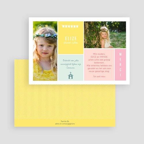Bedankkaart communie meisje - Couleur 46438 thumb