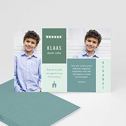 Bedankkaart communie jongen - Tout bleu - 0