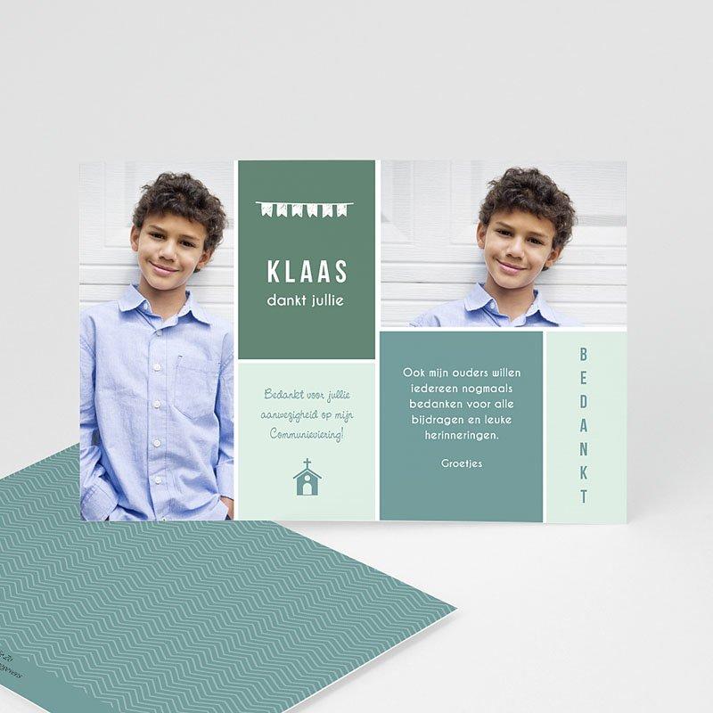 Bedankkaart communie jongen - Kapel 46439 thumb