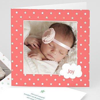 Geboortekaartjes met foto - Meisje ziet sterren - 0