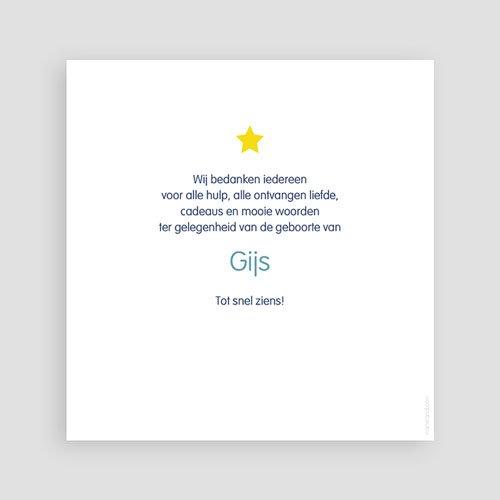 Bedankkaartje geboorte zoon - Dank de sterren 46495 thumb