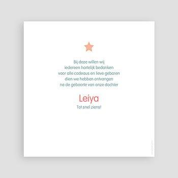 Bedankkaartje geboorte dochter - Dochter dankt sterren - 1
