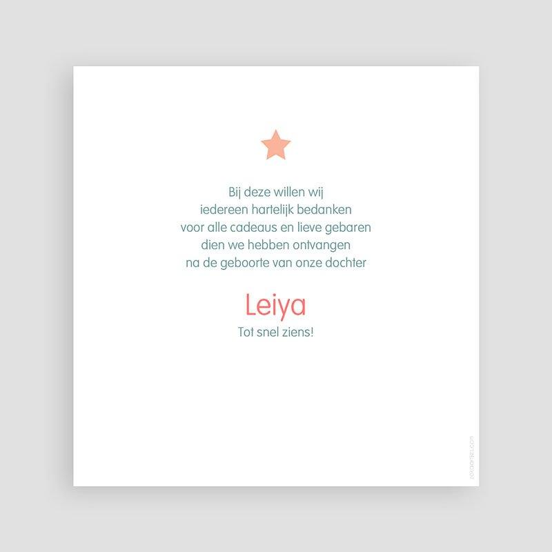 Bedankkaartje geboorte dochter - Dochter dankt sterren 46504 thumb