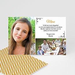 Bedankkaartjes Confirmation Een dankgebaar