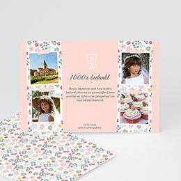 Bedankkaart communie meisje - Communiedank dochter - 0