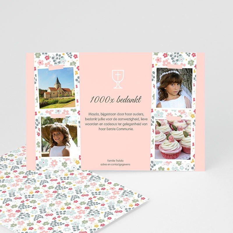 Bedankkaart communie meisje - Communiedank dochter 46593 thumb