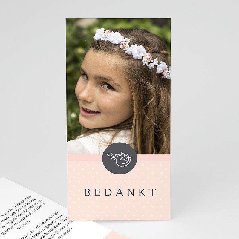 Bedankkaart communie meisje - Bedankommunie 46602 thumb