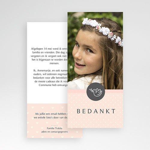 Bedankkaart communie meisje Bedankommunie pas cher