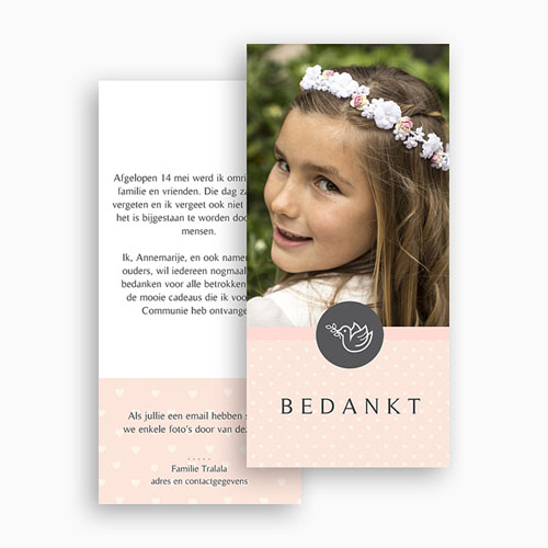 Bedankkaart communie meisje - Bedankommunie 46604 thumb