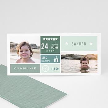 Uitnodiging communie jongen Programma Communie