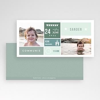 Uitnodiging communie jongen - Programma Communie - 1