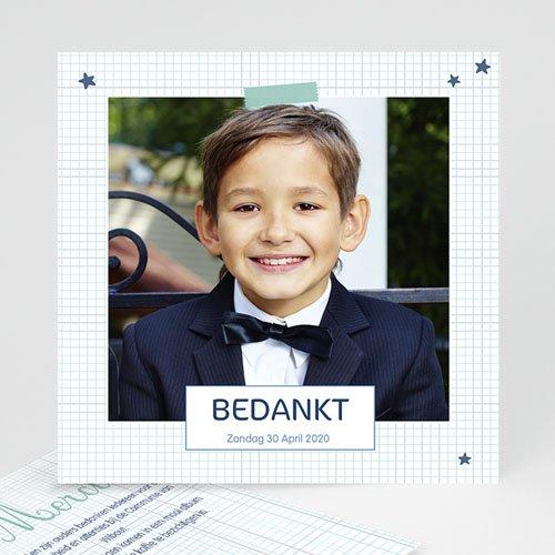 Bedankkaart communie jongen - Eerste Communie school 46674 thumb