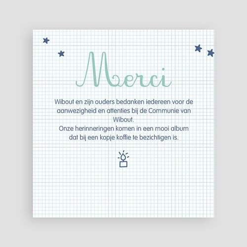 Bedankkaart communie jongen - Eerste Communie school 46675 thumb