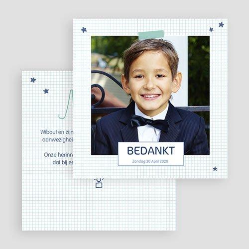 Bedankkaart communie jongen - Eerste Communie school 46676 thumb