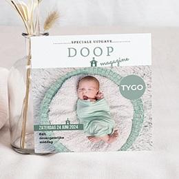 Aankondiging Doopviering Doopmagazine jongen