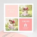 Doopkaartje meisje - Roze 2x2 46964 thumb