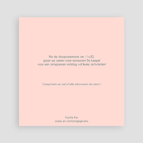 Doopkaartje meisje - Roze 2x2 46965 thumb