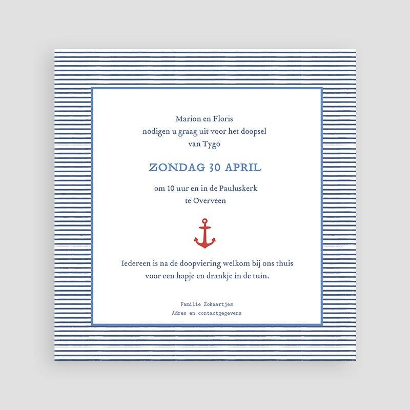 Doopkaartje jongen - Zeeman marine 47058 thumb