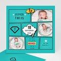 Geboortekaartje jongen - Super tweeling 47084 thumb