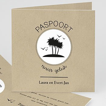 Trouwkaarten reizen - Paspoort naar geluk - 0