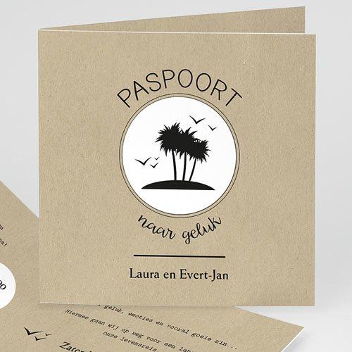 Trouwkaarten reizen - Paspoort naar geluk 47298 thumb