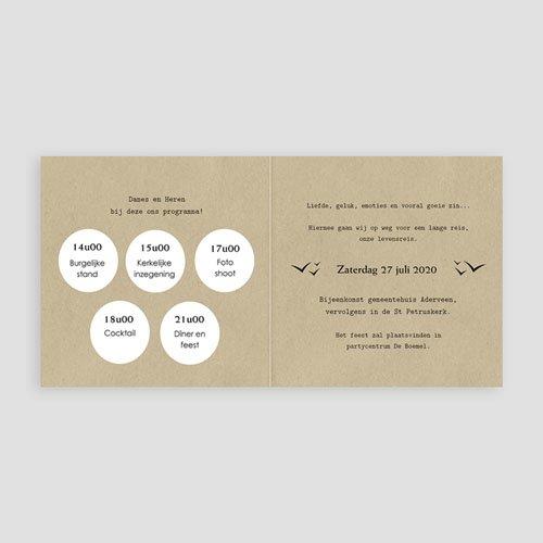 Trouwkaarten reizen - Paspoort naar geluk 47299 thumb