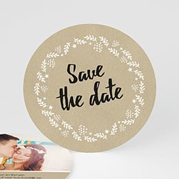 Save the date kaartjes - Met geluk bekroond - 0