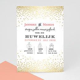Aankondiging Huwelijk sprankelende confetti