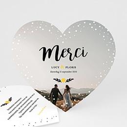 Bedankkaarten huwelijk - Van mijn hart - 0