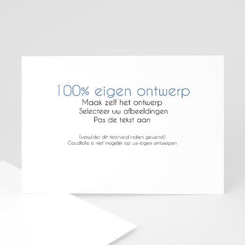 100% eigen ontwerp Geboortekaartjes - 16.7 cm x 12 cm 47389