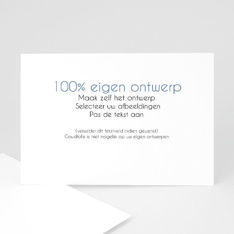 100% eigen ontwerp Geboortekaartjes 16.7 cm x 12 cm
