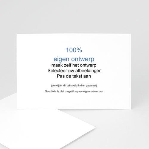 100% eigen ontwerp Geboortekaartjes 15 cm x 10 cm
