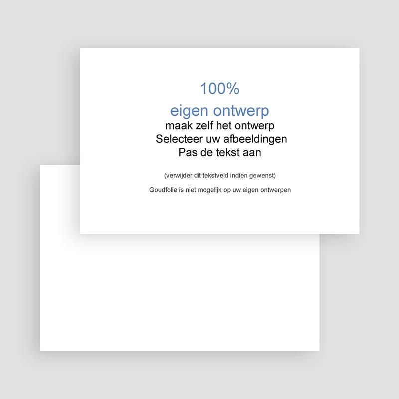 100% eigen ontwerp Geboortekaartjes 15 cm x 10 cm gratuit