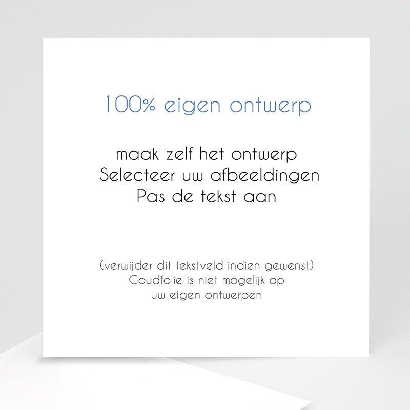 100% eigen ontwerp Geboortekaartjes 14.5 cm x 15 cm