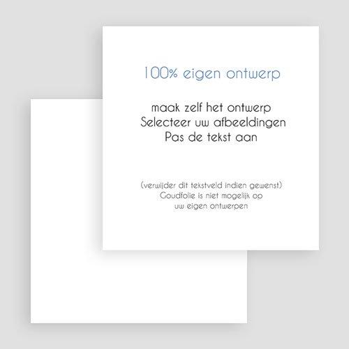 100% eigen ontwerp Geboortekaartjes 14.5 cm x 15 cm gratuit